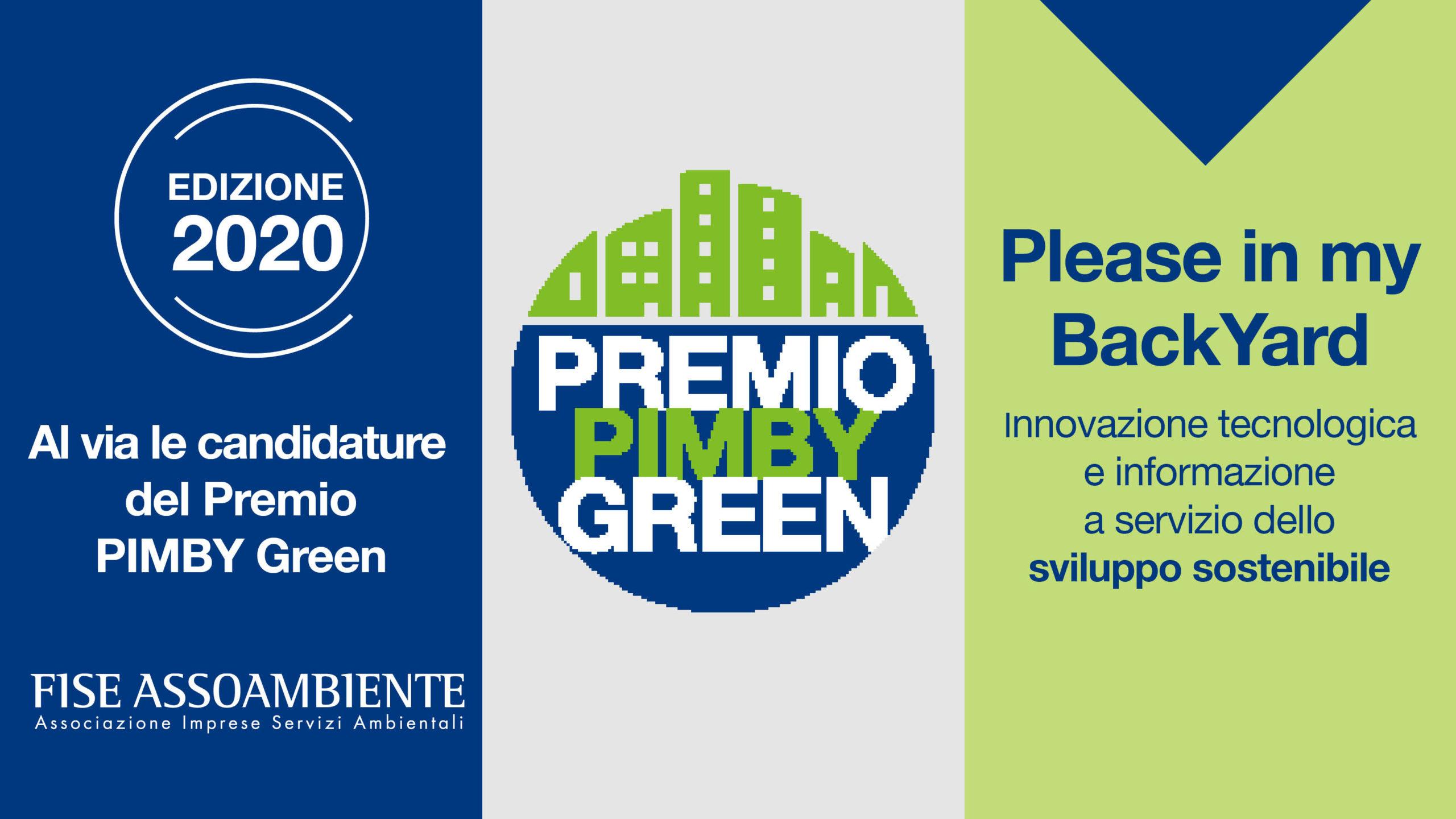 Torna il Premio PIMBY Green, l'innovazione contro il NIMBY